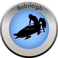 winter game button Bobsleigh