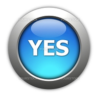 illustration of yes and no button for internet website