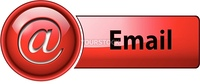 Email, mail icon, button, red glossy.