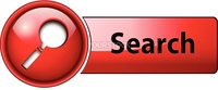 Search icon button, red glossy.