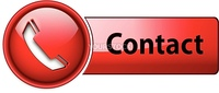 Telephone, contact icon button, red glossy.
