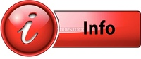 information, info icon button, red glossy.