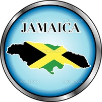 Vector Illustration for Jamaica, Round Button. Used Didot font.