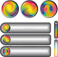 collection of rainbow  glossy fantasy web buttons