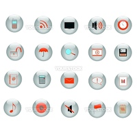 Various web icons.