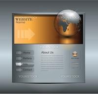 Business website template, editable vector.