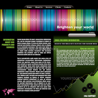 brightly coloured world wide web background with room to add your own type