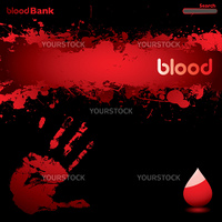 black and red blood inspired web page background with copyspace