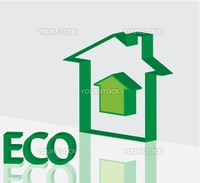 Green eco concept made of ecology icons vectors for poster
