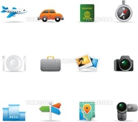 Travel icon set. Fully editable EPS file format.