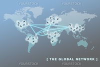 The global network business concept, can be use to symbolise virtual team, sites, remote working, and related global business concepts