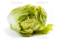 Chinese cabbage isolated on a white background with shadow. Clipping path included.