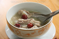 Pork rib soup traditional chinese cuisine clear broth