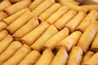 Many springrolls traditional fried appetizer chinese cuisine