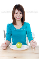Healthy Eating Concept. Isolated over white background.