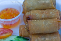 this picture is a disho of Veg Spring Rolls