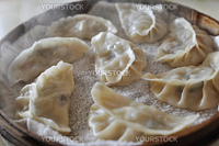 A plate of steamed dumplings in Xian, China