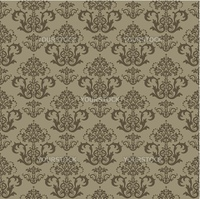 Seamless brown floral wallpaper. This image is a vector illustration