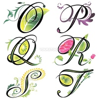 alphabets elements design - series O to T