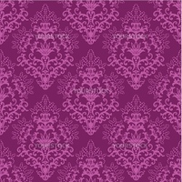 Seamless fuchsia purple floral wallpaper. This image is a vector illustration. Please visit my portfolio for more similar illustrations.