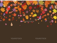 Falling multicolor autumn leaves. EPS 8 vector file included