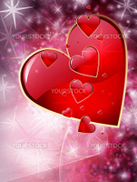 Editable abstract grunge style Valentines day background with space for your text. More images like this in my portfolio