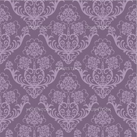 Seamless purple floral wallpaper. This image is a vector illustration. Please visit my portfolio for more similar illustrations.