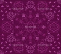 Seamless purple flowers and butterflies pattern. This image is a vector illustration. Please visit my portfolio for more similar illustrations.