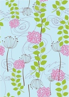Rose, dandelion and flower wallpaper. This image is a vector illustration. Please visit my portfolio for more similar illustrations.