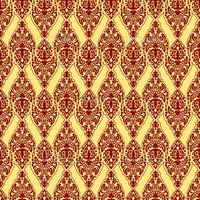 red damask texture, abstract seamless pattern  vector art illustration