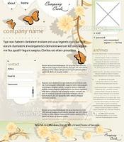 Web site layout, nature theme