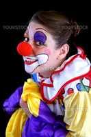 happy colorful goofy buffoon