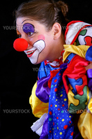 colorful smiling clown