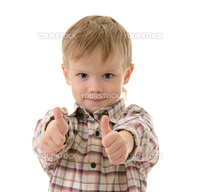 boy in shirt isolated on white background