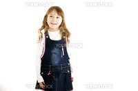 Beautiful little girl is happy and smilng
