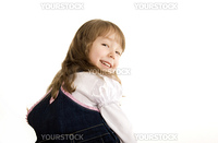 Beautiful little girl being happy and laughing
