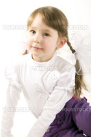 Beautiful little girl  isolated on white