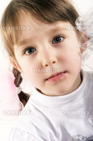 close-up photo of a beautiful little girl