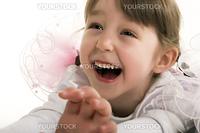 Beautiful little girl is full of joy
