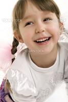 Beautiful little girl laughing