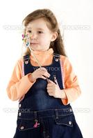 Beautiful little girl as if princess