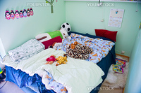 Children bed and toys in tte children room