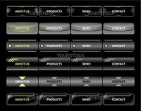 Various vector illustration of website menu.