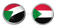 button style banner in 3D of Sudan