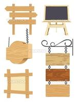 木製の看板ベクターイラスト素材