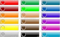empty web buttons colored set glossy icon
