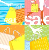 shopping backgrounds in vector format very easy to dit, individual objects