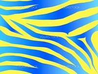 Vector blue and yellow stripped tiger design