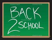 A drawing of a chalkboard with the words Back to School written.
