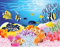 Vector illustration of sea life backgroun
